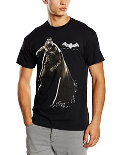 DC Comics Batman Arkham Knight Stance - Camiseta manga corta para hombre,  color negro,