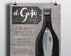 """Check out new work on my @Behance portfolio: """"Di Goto In Sushi 2017 - Siro Merotto winery"""" http://be.net/gallery/51942145/Di-Goto-In-Sushi-2017-Siro-Merotto-winery"""