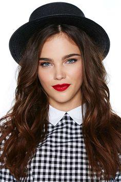 Nasty Gal Gillian Boater Hat - Black   Shop Hair + Hats at Nasty Gal