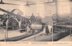 Postales: TUNEL DE SOMPORT-CANFRANC- COMPRESORES DE AIRE Y TURBINAS - Foto 1 - 75199671