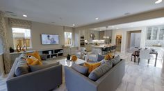 Residence One Great Room at Ashford | New Neighborhood in Mountain House, California | Built by Shea Homes Northern California