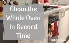 I wanted to be able to clean the oven as quickly as possible. I found the fastest way to clean the oven, oven racks, and oven glass. Deep Cleaning Tips, Cleaning Checklist, House Cleaning Tips, Diy Cleaning Products, Cleaning Solutions, Spring Cleaning, Cleaning Hacks, Cleaning Recipes, Cleaning Supplies