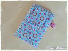 """Handytasche """"Ornamente Türkis-pink"""" - Mehr dazu im Purzelbine Dawanda-Shop oder unter www.purzelbine.de"""