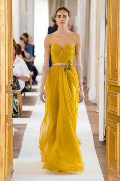 Mango Mojito '' Pantone Spring/ Summer 2019 Color '' by Reyhan S.D. - Bing images Draped Dress, Strapless Dress Formal, Formal Dresses, Fashion Images, Fashion News, Fashion Quotes, Afternoon Wedding, Runway Fashion, Hijab Fashion