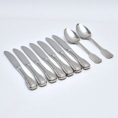 38 modern high style photo prop Vintage Silverware Wavy handle Stainless Flatware mix and match AS AB