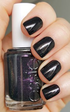 Essie Haute Tub - Winter 2015 {jet black with amethyst fire}