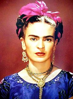 Frida Khalo, her eyes are as intense as her paintings.