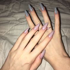 Image uploaded by alice. Find images and videos about pink, nails and grey on We Heart It - the app to get lost in what you love. Aycrlic Nails, Nail Manicure, Hair And Nails, Cute Acrylic Nails, Cute Nails, Pretty Nails, Nails Yellow, Pink Nails, Dream Nails