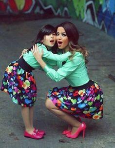 Outfit madre e hija; sencillamente hermoso