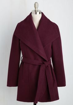 Boston Bake-Off Coat in Cranberry. Stepping off the train with an armful of your trademark treats, you show off the sweetest of your…