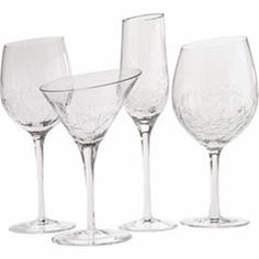 Pier 1 Imports Angled Rim Crackle Martini Glass Discontinued Multiple Available