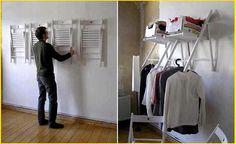 guarda-roupas muito bem improvisado