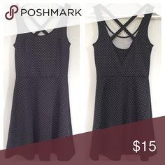 Crisscross skater dress Comfy skater dress with crisscross back. Like new. Fits a Small. H&M Dresses Mini