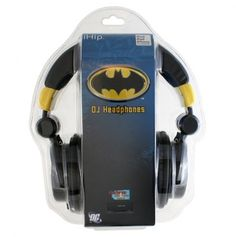 DC Comics Batman Logo Headphones - My son would LOVE these!!!