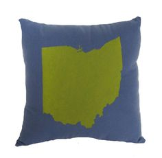 Ohio State Blue Cozy Flannel Throw Pillow  13'' x 13'' by APEMADE, $28.95