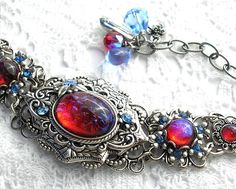 Hey, I found this really awesome Etsy listing at https://www.etsy.com/au/listing/269338642/fire-and-ice-mexican-glass-fire-opal