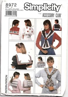 1980s Simplicity 8972  Misses and Girls by RedcurlzsPatterns