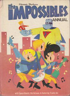 The Impossibles Annual (Issue) Classic Cartoon Characters, Cartoon Tv Shows, Classic Cartoons, Cartoon Styles, Old School Cartoons, Old Cartoons, Funny Cartoons, Vintage Cartoon, Cartoon Art