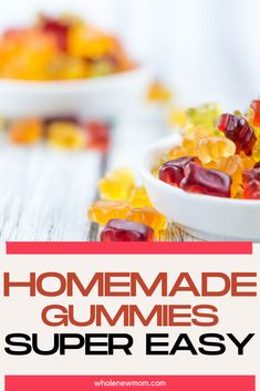 These healthy homemade gummy bears are great for the whole family not just the kids. These super easy gummies can even be made vegan and sugar free. With just 3 ingredients you can quickly make these gummies with this easy recipe. Raw Food Recipes, Low Carb Recipes, Healthy Recipes, Homemade Gummies, Gummy Bears, Healthy Treats, 3 Ingredients, Sugar Free, Super Easy