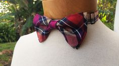 Pre-Tied Bow Tie Red Magenta Navy Blue by BowMeAwayByAlexandra