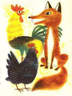 J. P. Miller illustration. Golden Books illustration