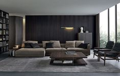 With Spring almost here, we want to inspire you for a new modern interior design for your living room. Living Room Interior, Home Living Room, Living Room Designs, Living Room Furniture, Living Spaces, Furniture Usa, Sofa Design, Canapé Design, House Design