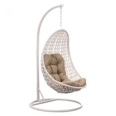 Sheko Cradle Chair ($849) ❤ liked on Polyvore featuring home, furniture, chairs, accent chairs, woven chair, woven furniture, white chair, white furniture and rustic furniture