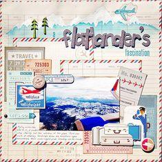 #papercraft #scrapbook #layout.  Flatlanders Fascination by Madeline @2peasinabucket