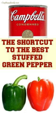 ... shortcut to your mom's stuffed green peppers is the an electric