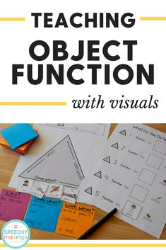 Visuals for reaching object function - a critical skill for expanding sentence length and describing! A must have packet for speech and language therapy!