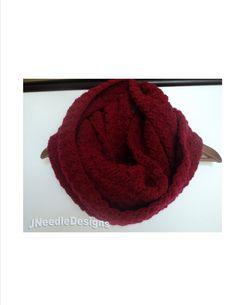 Burgundy Infinity using Red Heart Yarn