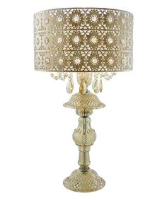 Another great find on #zulily! Champagne Jeweled Blossoms Table Lamp #zulilyfinds