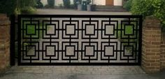 Image result for sliding wrought iron gates