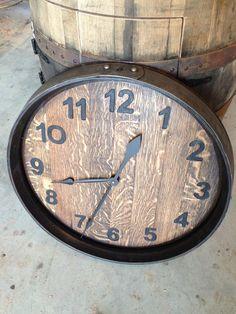 Wine Barrels clock