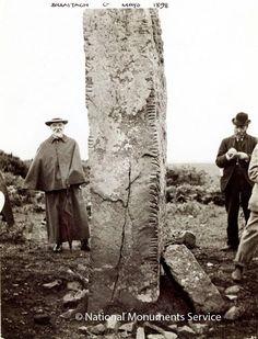 Breastagh Ogham Stone, Co. Mayo, Ireland, 1898