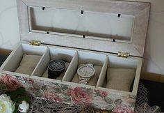 Box na hodinky / adis - SAShE. Storage Chest, Decoupage, Box, Crafts, Furniture, Home Decor, Snare Drum, Room Decor, Boxes