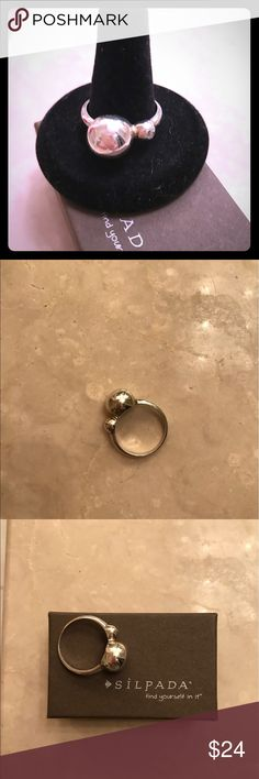 Silpada Sterling Silver Ring Silpada Sterling Silver Have a Ball Ring Size 10 Never Been Worn Display Only cubic Zirconia and Sterling Silver Silpada Jewelry Rings