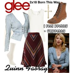 Quinn Fabray (Glee) : I Feel Pretty / Unpretty by aure26 on Polyvore featuring Reiss, Hue and glee
