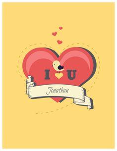 Fully editable Valentines Day Card Createer #love #card #heart #valentine's day #feelings #greeting #bird