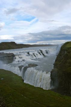 "Gullfoss, which means ""Golden Falls"" in Icelandic, is Iceland's most popular waterfall to visit."