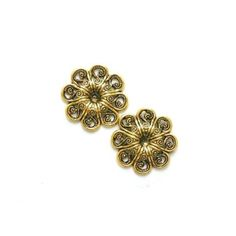 All These Showers Better Bring Spring Flowers!. So Until The Clouds Part & the Flowers Bloom Enjoy this Hint of the Spring to Come with our Vintage Gold Flower Statement Stud Earrings! Click Here to Shop this Look http://www.laurajamesjewelry.com/products/vintage-floral-etched-gold-tone-statement-stud-earrings http://thenearby.com/posts/2661