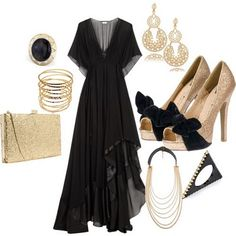 I want to be rich and grown up and go to awesome black tie events and wear THIS!
