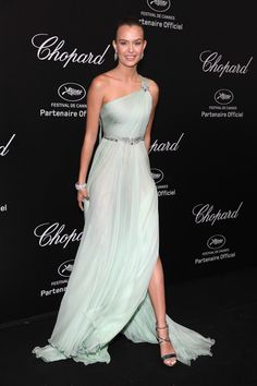Josephine Skriver attends Chopard Secret Night during the 71st annual Cannes Film Festival at Chateau de la Croix des Gardes on May 11, 2018 in Cannes, France.