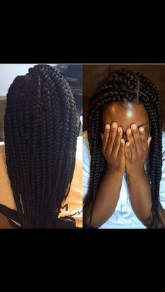 Huge box braids