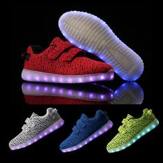 f79d0ef23 Aliexpress.com   Buy MaiDun New fashion Led Shoes Kids USB Charging Children  Light Up yeezy Shoes Mesh Breathable Casual Shoes Glowing Shoes children  from ...