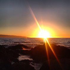 Por do sol em Reñaca.