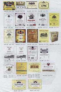 Etiquetas de vino free printable