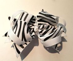 Your place to buy and sell all things handmade Zebra Party Decorations, Boutique Bows, Favor Bags, Girl Birthday, Hair Bows, Party Favors, Baby Shoes, Parties, Trending Outfits