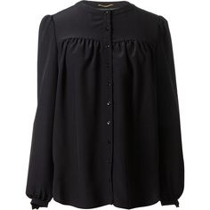 Saint Laurent black silk blouse found on Polyvore