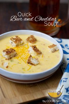 Beer Cheese Soup in 15 Minutes. A family favorite, so luxurious on a Friday night!